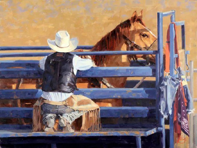 动感十足的牛马,大胆的印象派画风插图31