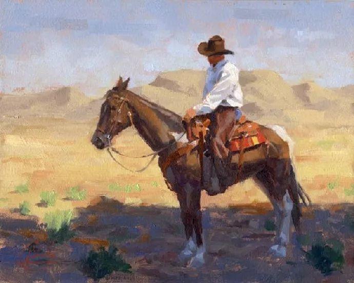 动感十足的牛马,大胆的印象派画风插图43
