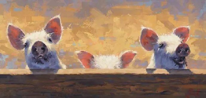 动感十足的牛马,大胆的印象派画风插图55