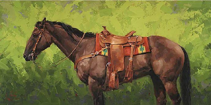 动感十足的牛马,大胆的印象派画风插图65