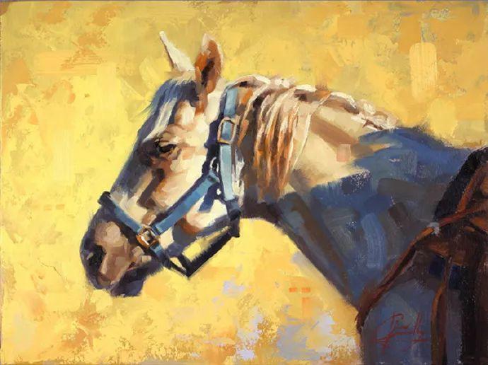 动感十足的牛马,大胆的印象派画风插图67