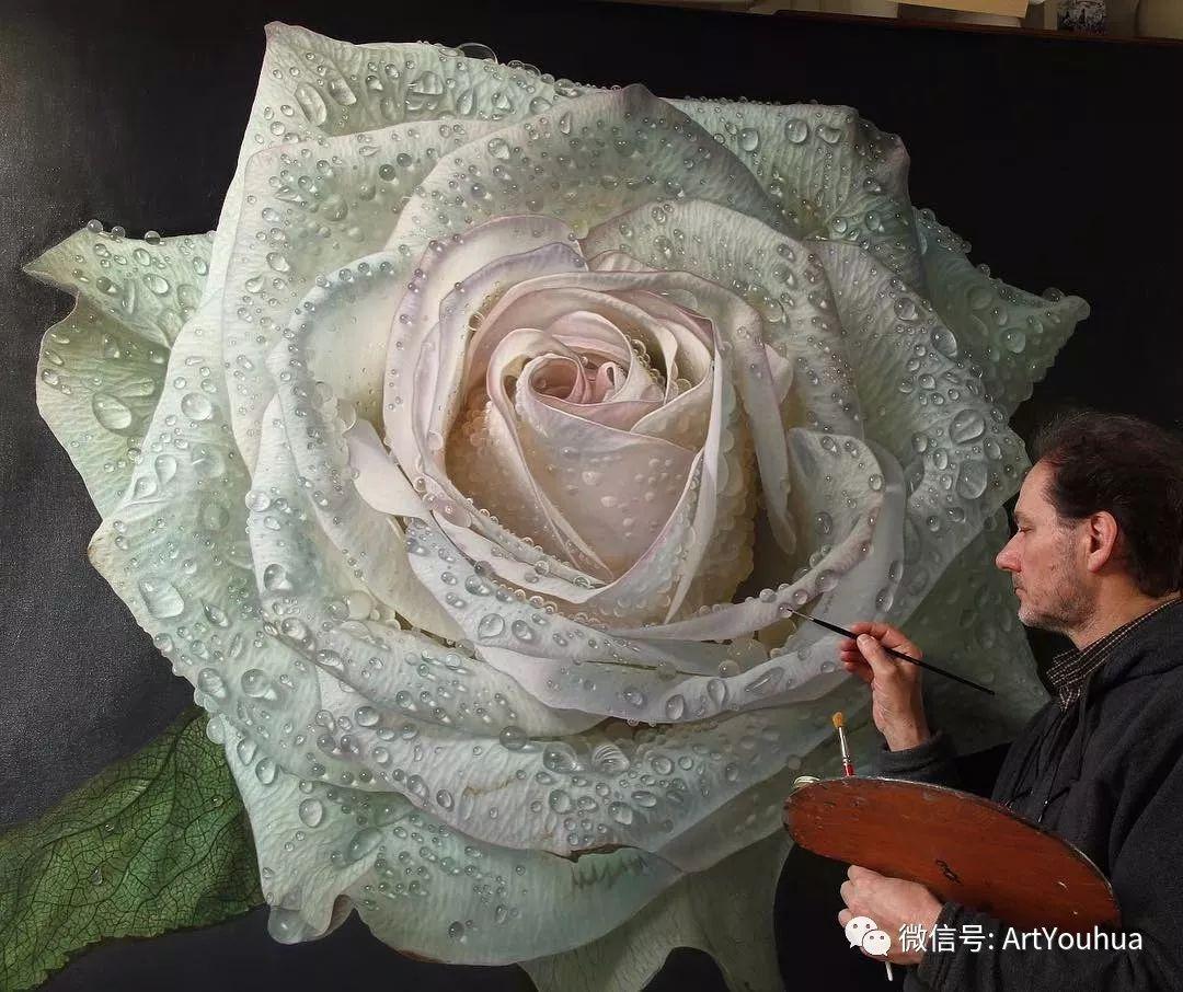 他用一块画布,就能将其变成一个露珠覆盖的玫瑰花园插图10