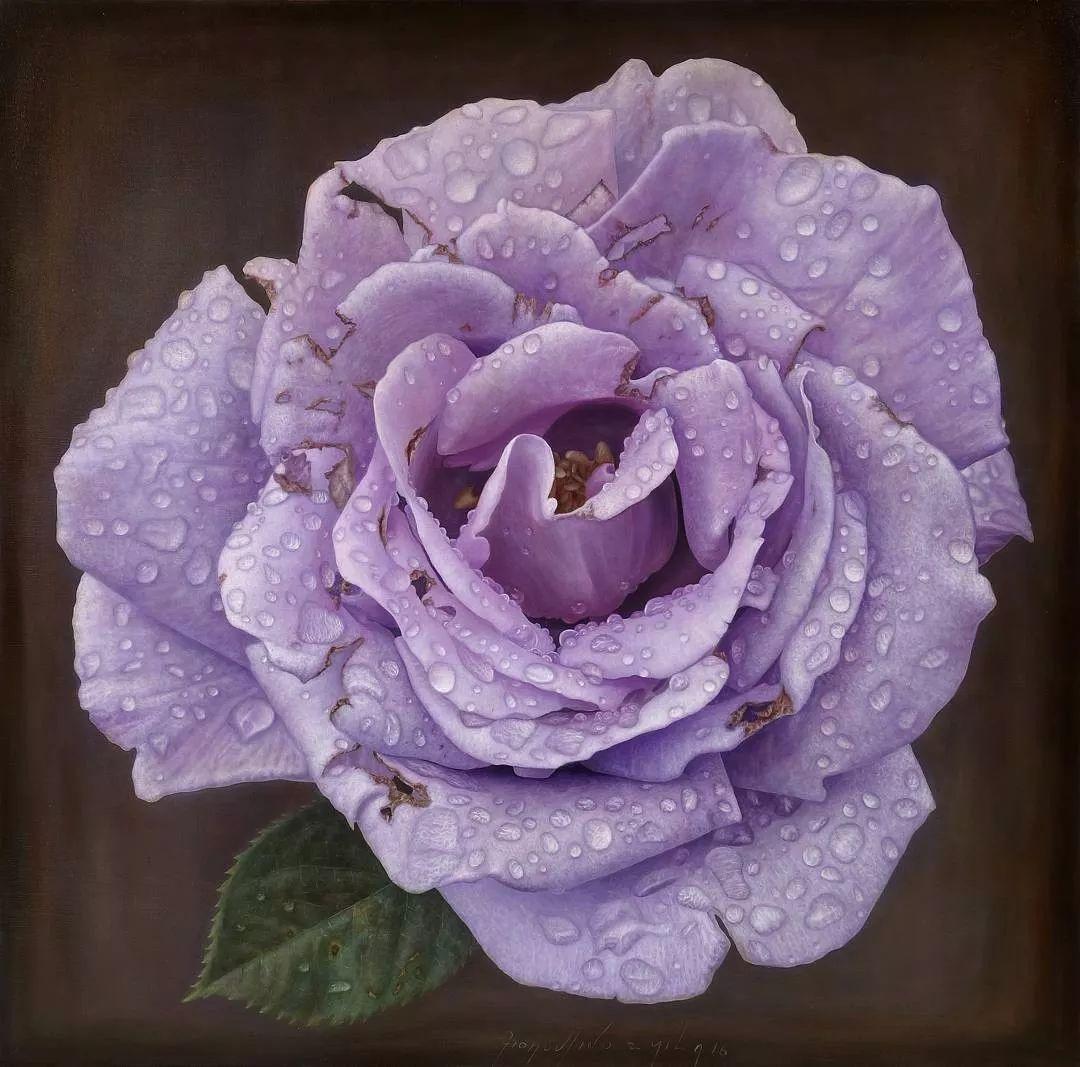 他用一块画布,就能将其变成一个露珠覆盖的玫瑰花园插图17