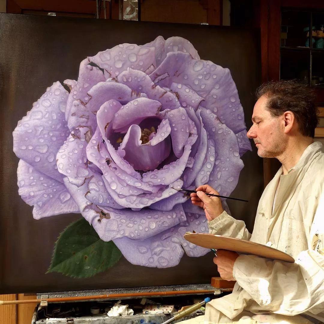 他用一块画布,就能将其变成一个露珠覆盖的玫瑰花园插图19