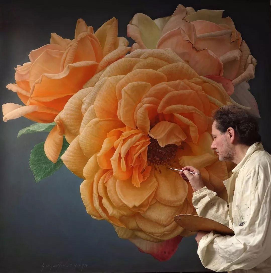 他用一块画布,就能将其变成一个露珠覆盖的玫瑰花园插图25