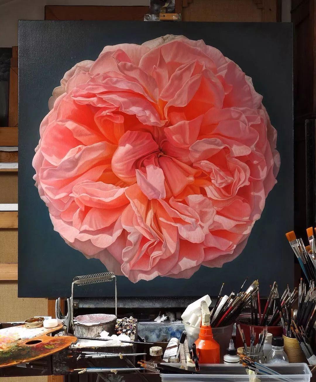 他用一块画布,就能将其变成一个露珠覆盖的玫瑰花园插图27