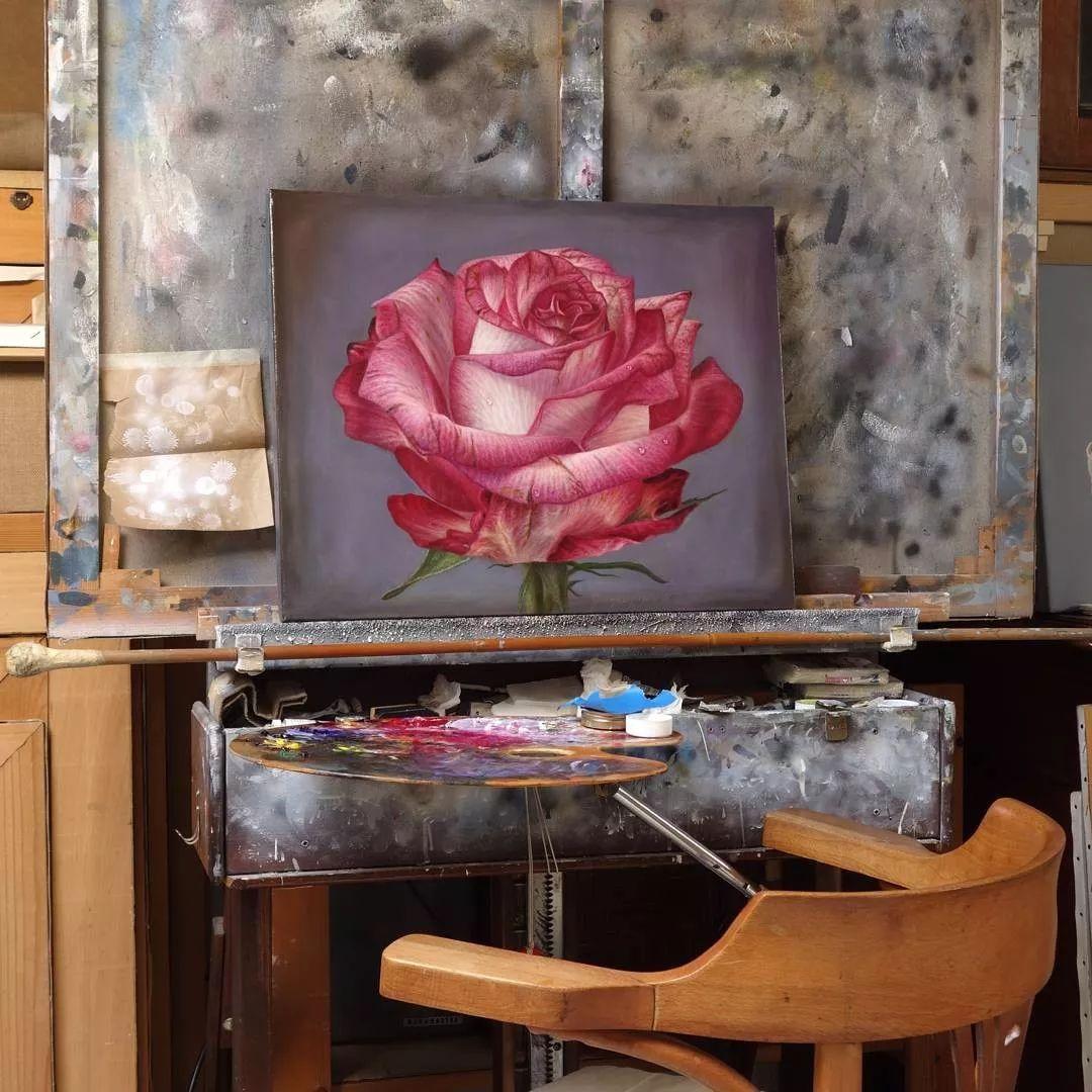 他用一块画布,就能将其变成一个露珠覆盖的玫瑰花园插图37