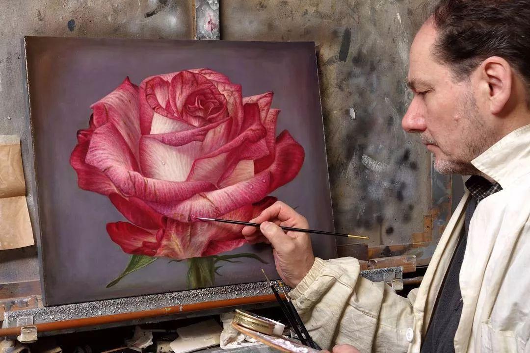 他用一块画布,就能将其变成一个露珠覆盖的玫瑰花园插图38