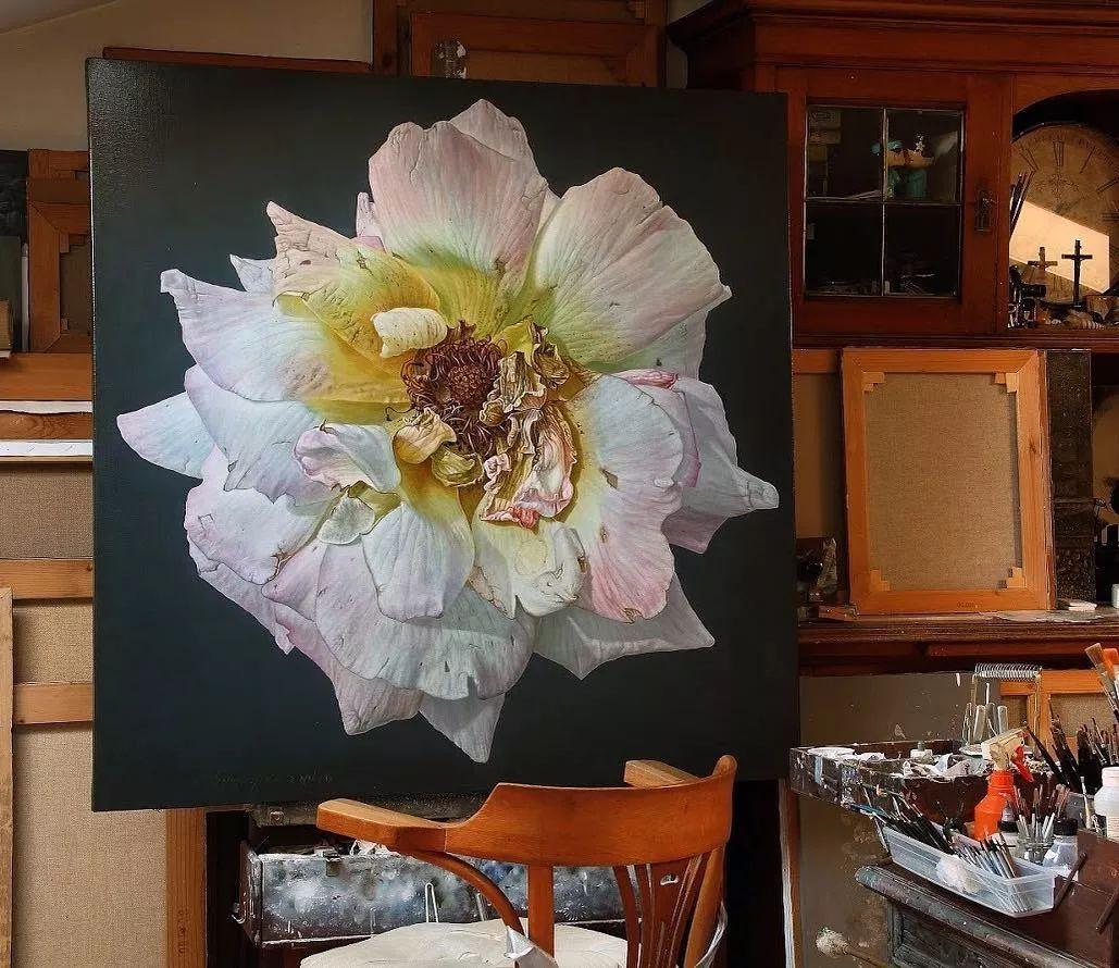 他用一块画布,就能将其变成一个露珠覆盖的玫瑰花园插图44