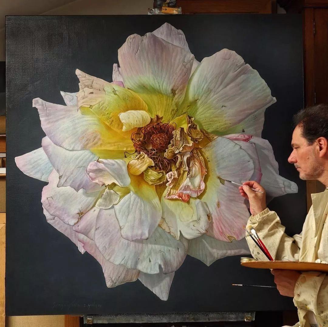 他用一块画布,就能将其变成一个露珠覆盖的玫瑰花园插图45