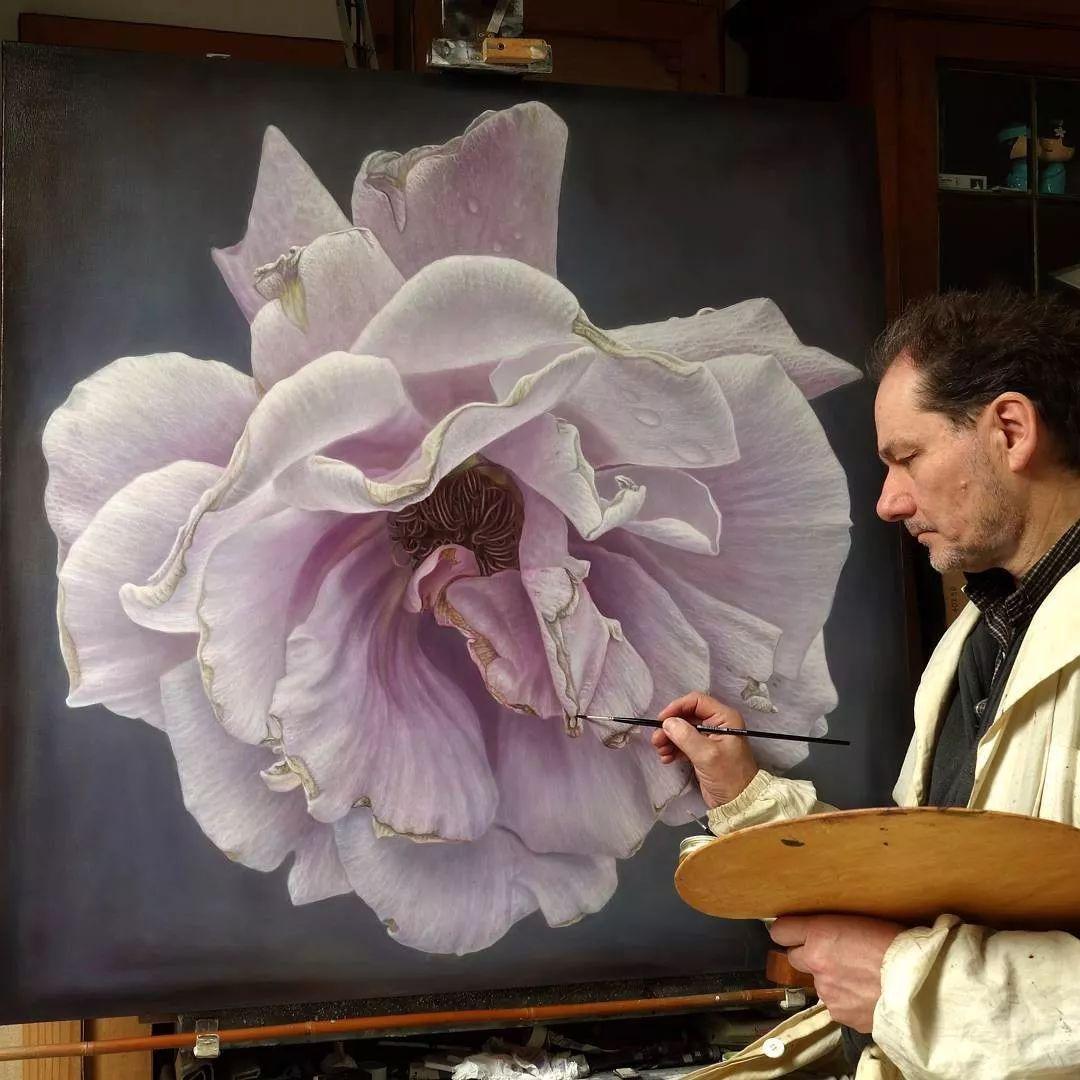 他用一块画布,就能将其变成一个露珠覆盖的玫瑰花园插图51