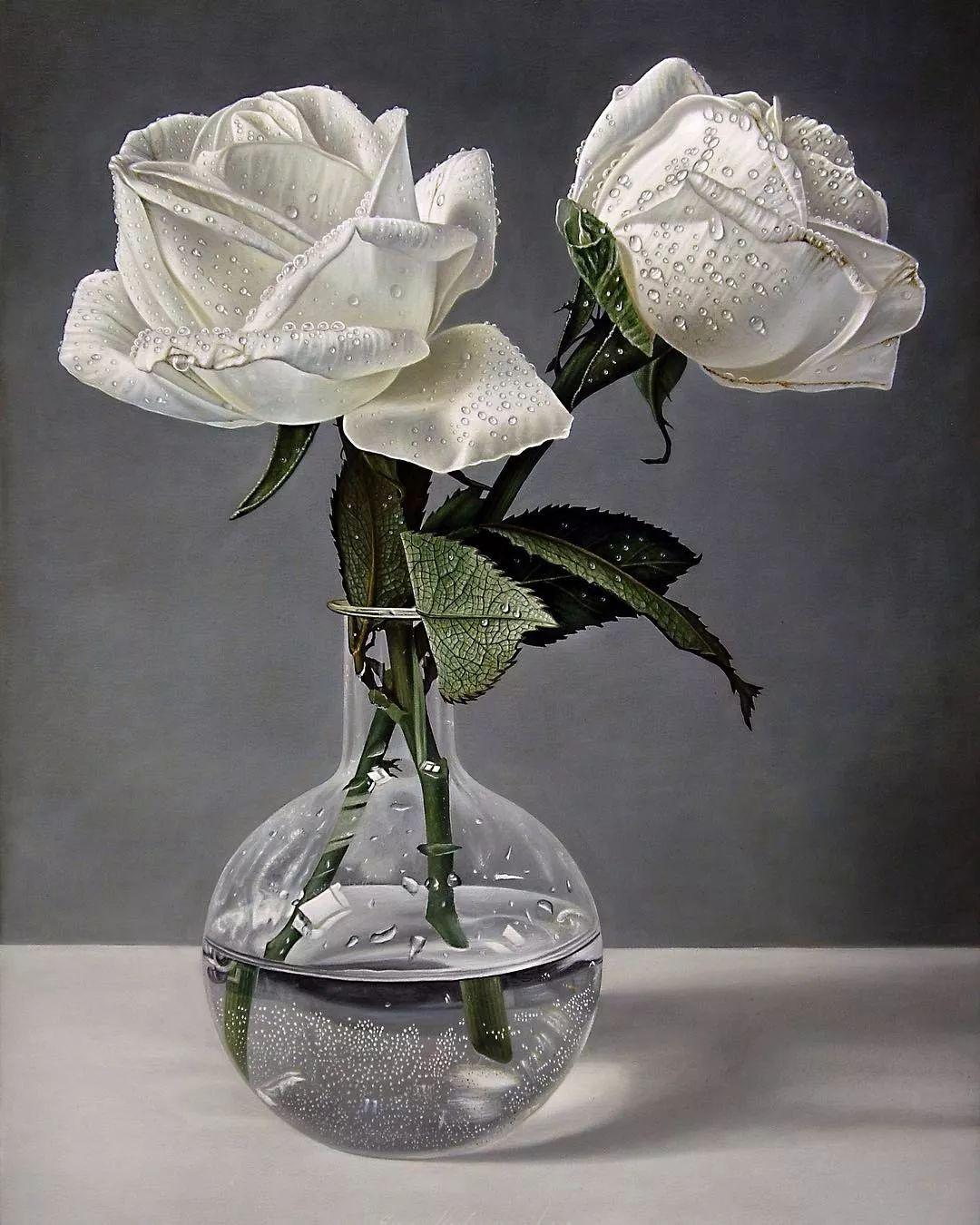 他用一块画布,就能将其变成一个露珠覆盖的玫瑰花园插图67