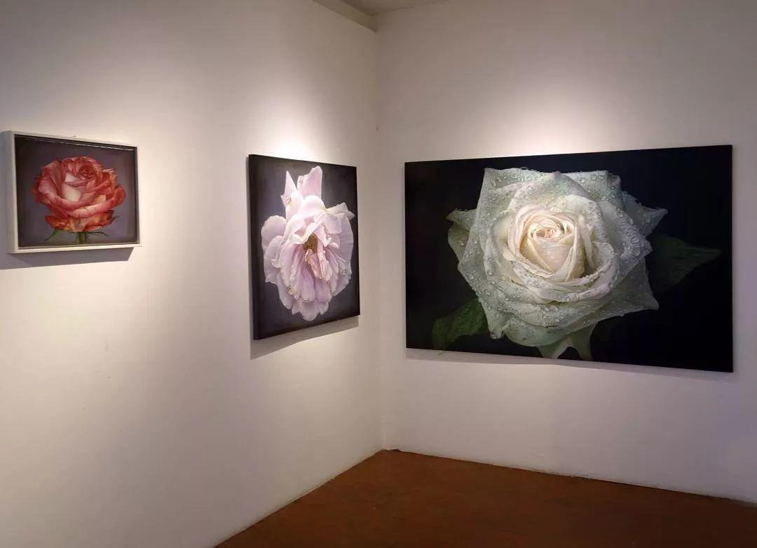他用一块画布,就能将其变成一个露珠覆盖的玫瑰花园插图71