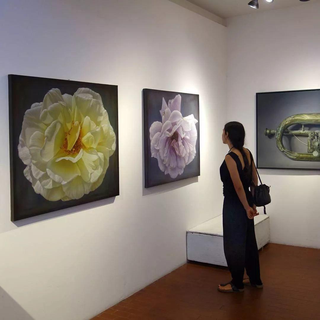 他用一块画布,就能将其变成一个露珠覆盖的玫瑰花园插图72