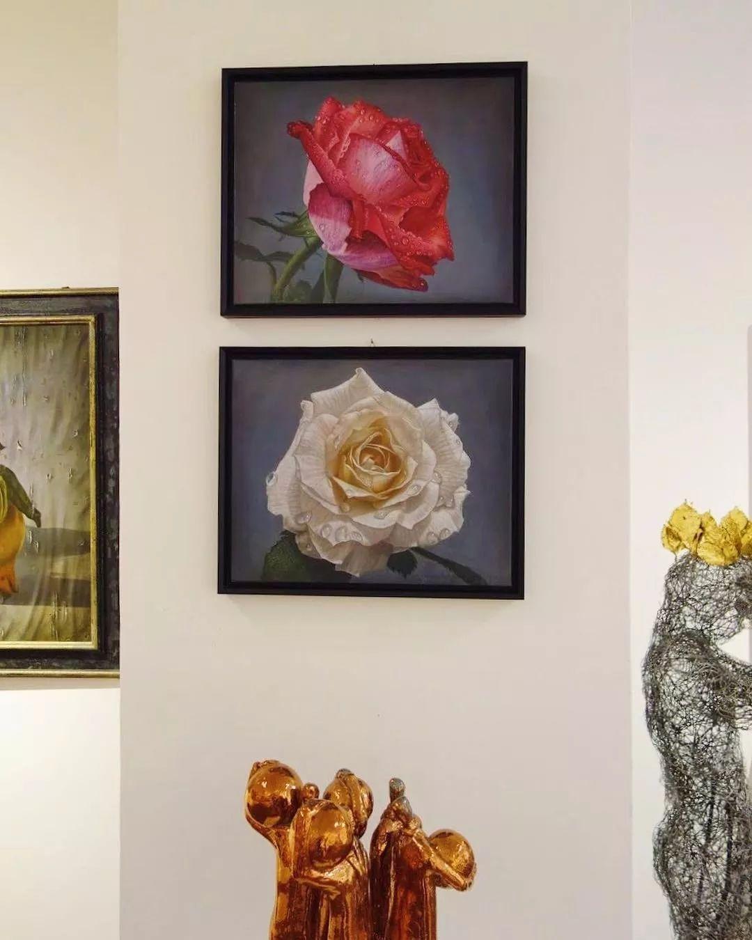 他用一块画布,就能将其变成一个露珠覆盖的玫瑰花园插图73
