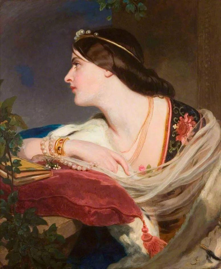 桑特画笔下的妻子,犹如润玉雕琢般柔美插图19