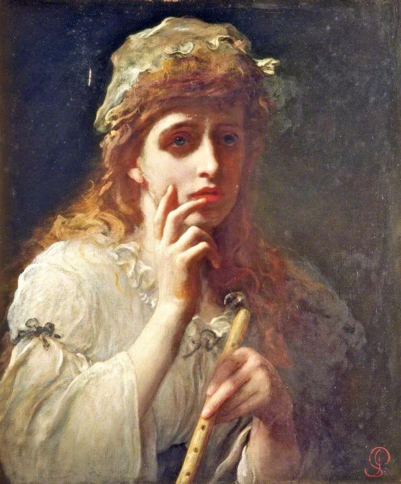 桑特画笔下的妻子,犹如润玉雕琢般柔美插图45