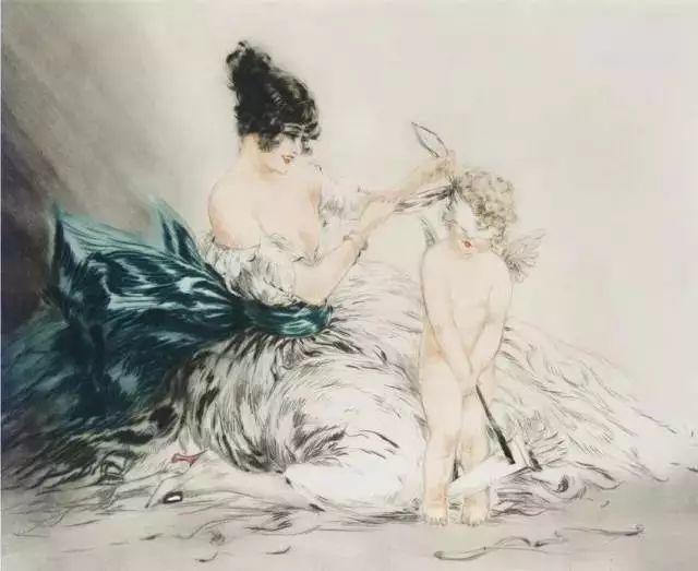 妻子是他一生艺术的灵感源泉 法国画家Louis Icart插图9