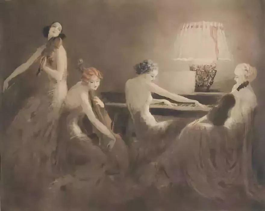 妻子是他一生艺术的灵感源泉 法国画家Louis Icart插图19