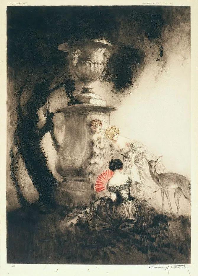 妻子是他一生艺术的灵感源泉 法国画家Louis Icart插图63