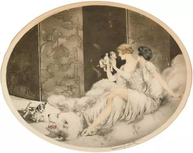妻子是他一生艺术的灵感源泉 法国画家Louis Icart插图97