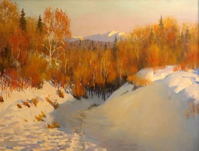 风景油画18幅,俄罗斯画家雅罗斯拉夫插图1
