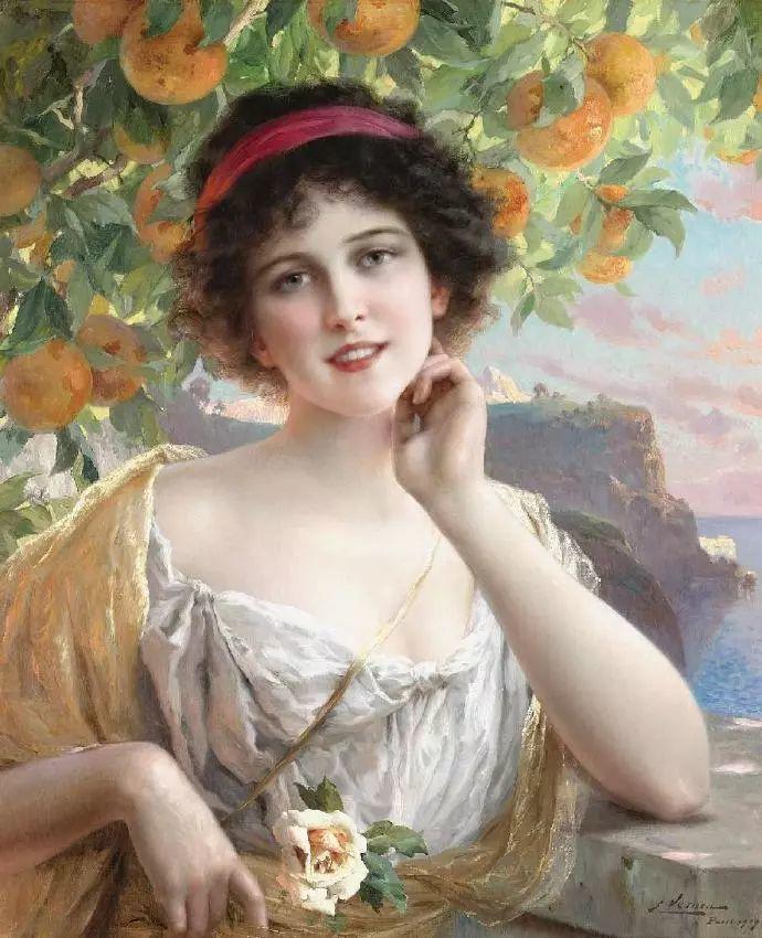 微胖的女人最美,法国画家埃米尔·弗农插图