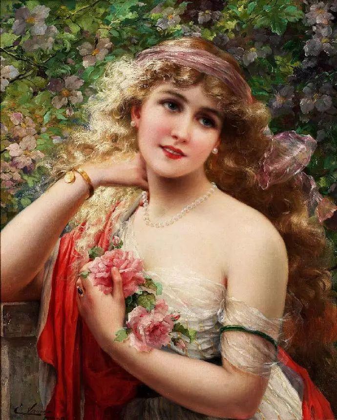 微胖的女人最美,法国画家埃米尔·弗农插图1