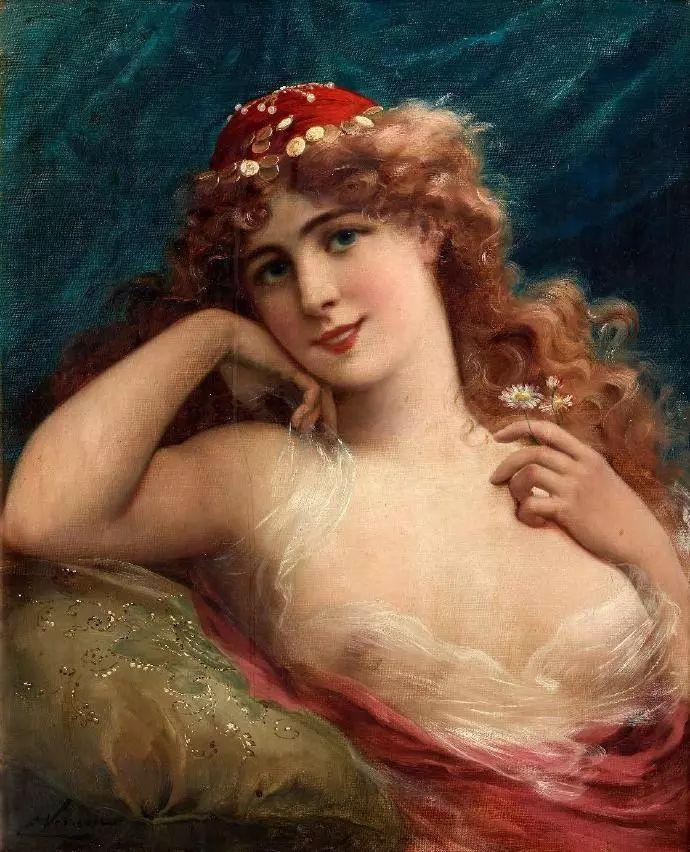 微胖的女人最美,法国画家埃米尔·弗农插图23