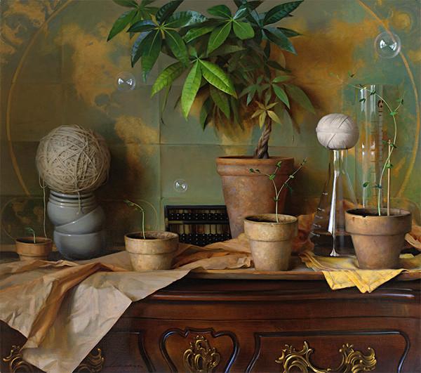 生活油画,美国杰弗里·拉尔森插图13