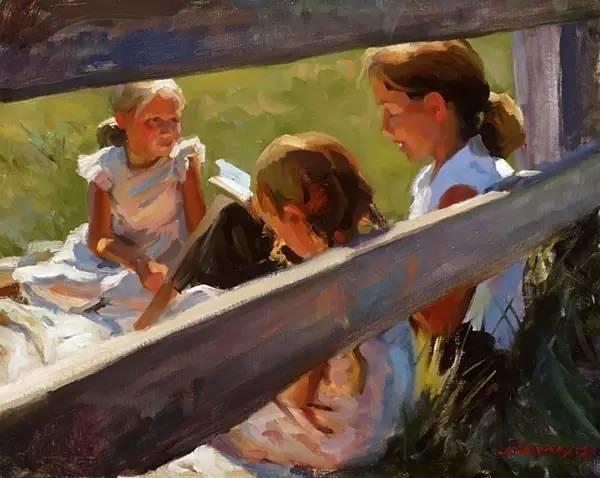 生活油画,美国杰弗里·拉尔森插图42