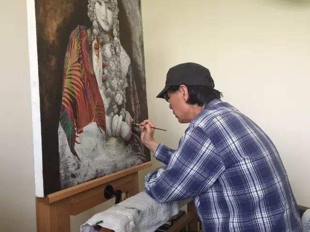 他一幅画,180天,1200颗珠子,每一颗都独一无二,让人心生敬畏!插图