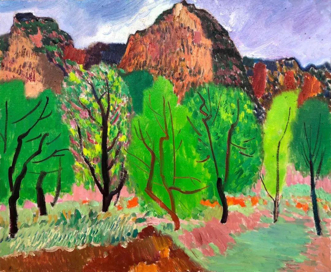写意风格山野风景——王克举油画插图24