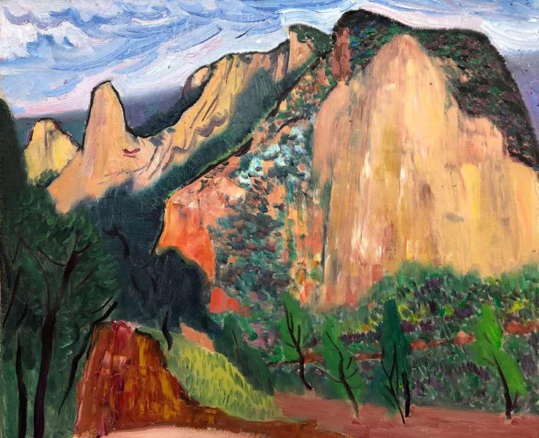 写意风格山野风景——王克举油画插图25