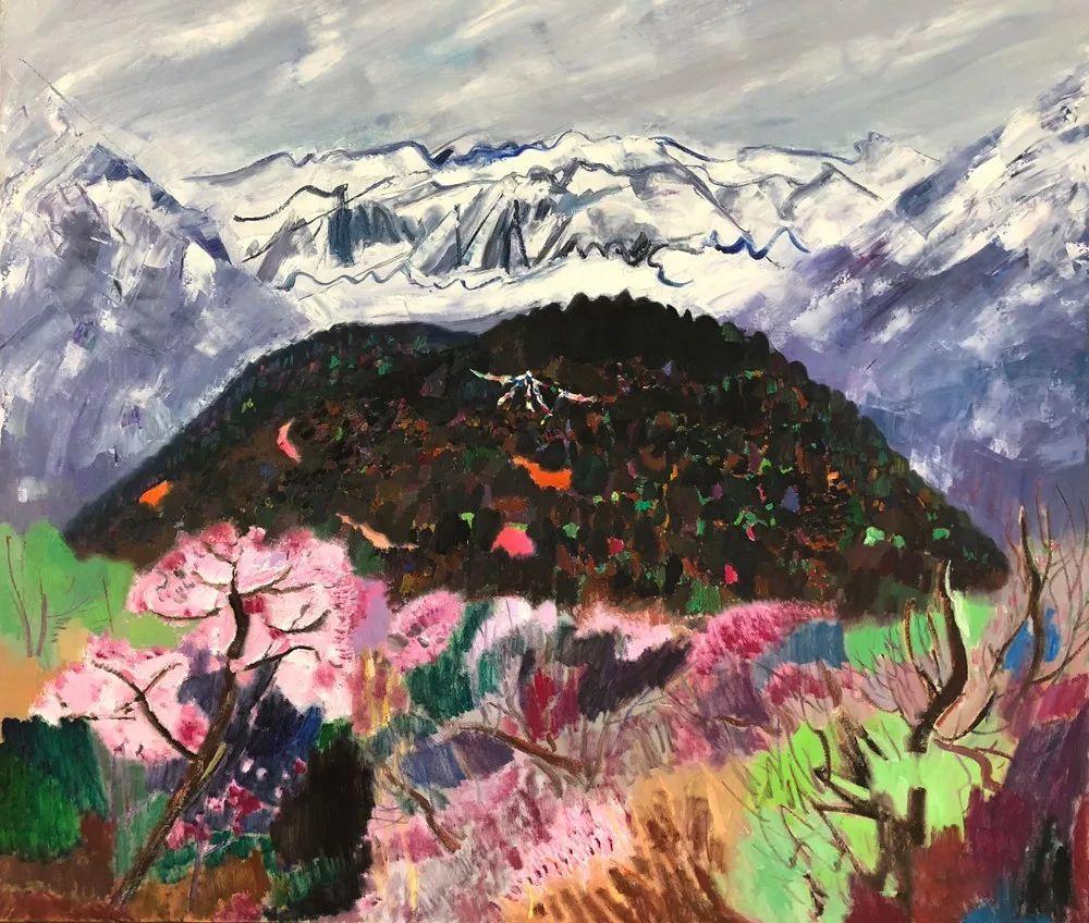 写意风格山野风景——王克举油画插图32