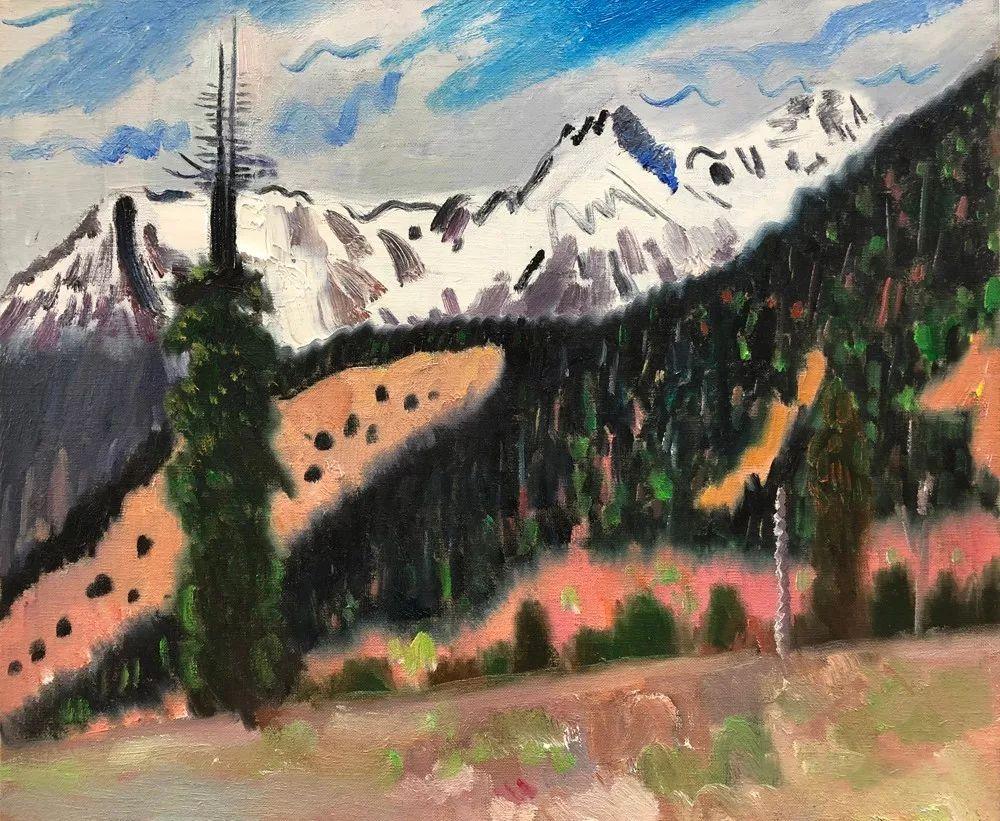 写意风格山野风景——王克举油画插图34