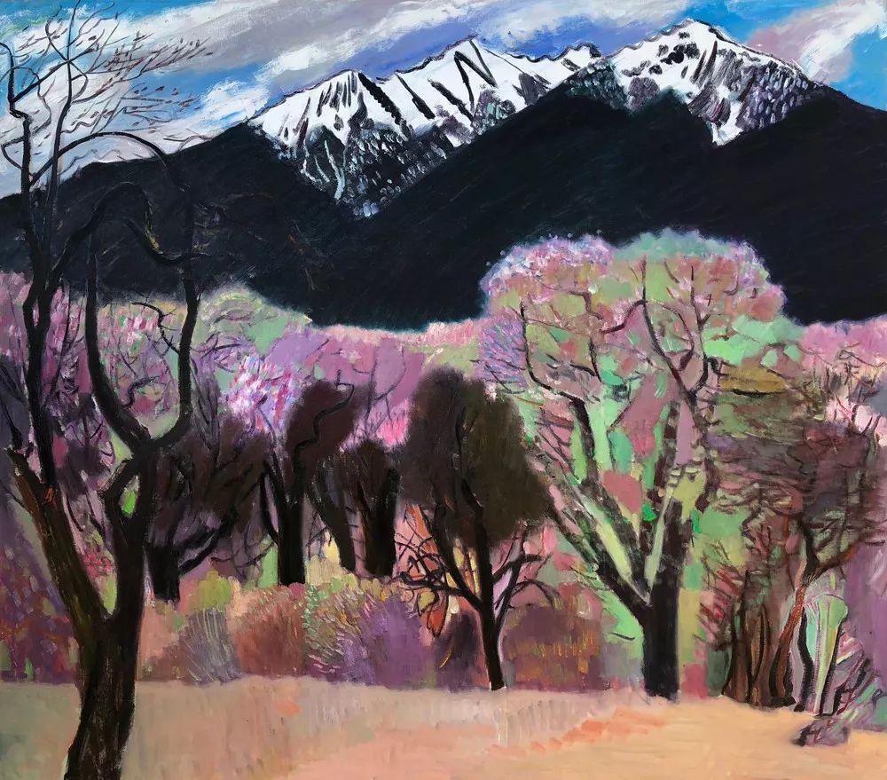 写意风格山野风景——王克举油画插图35