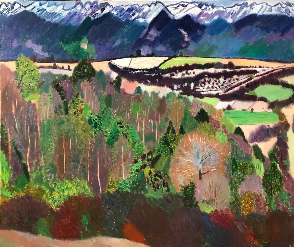 写意风格山野风景——王克举油画插图37