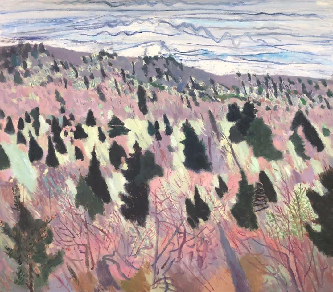 写意风格山野风景——王克举油画插图38