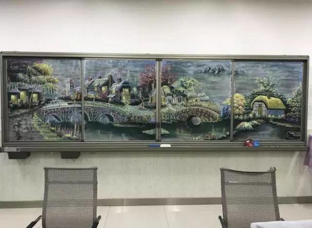 小学老师用粉笔画出油画质感,美到央视为其打call插图33