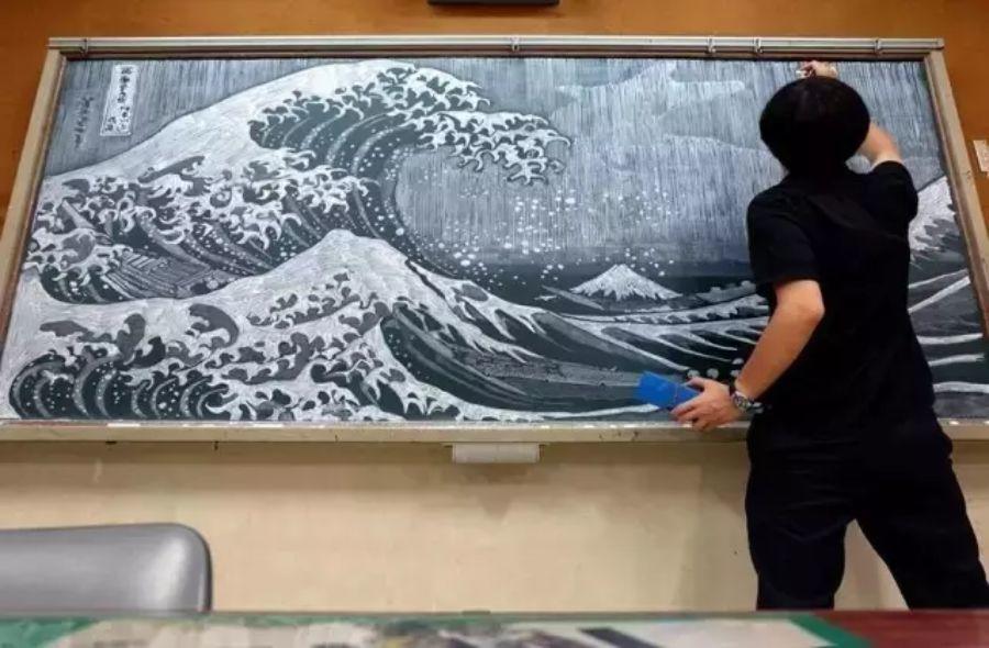 小学老师用粉笔画出油画质感,美到央视为其打call插图43