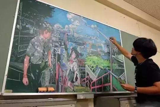 小学老师用粉笔画出油画质感,美到央视为其打call插图49