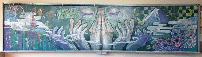 小学老师用粉笔画出油画质感,美到央视为其打call插图53