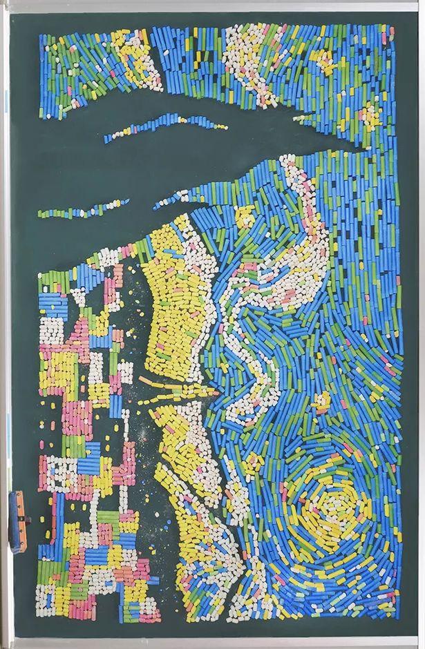 小学老师用粉笔画出油画质感,美到央视为其打call插图61