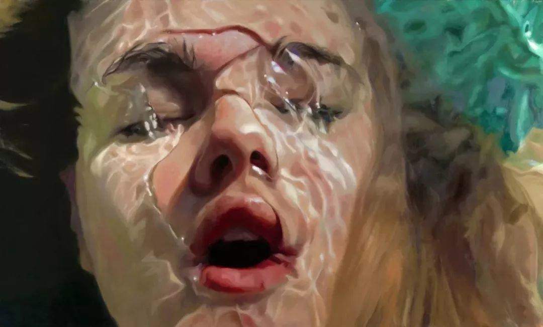 炎炎夏日90后美女画家,不拼颜值拼画功,绘出水下美女淋漓细节插图16