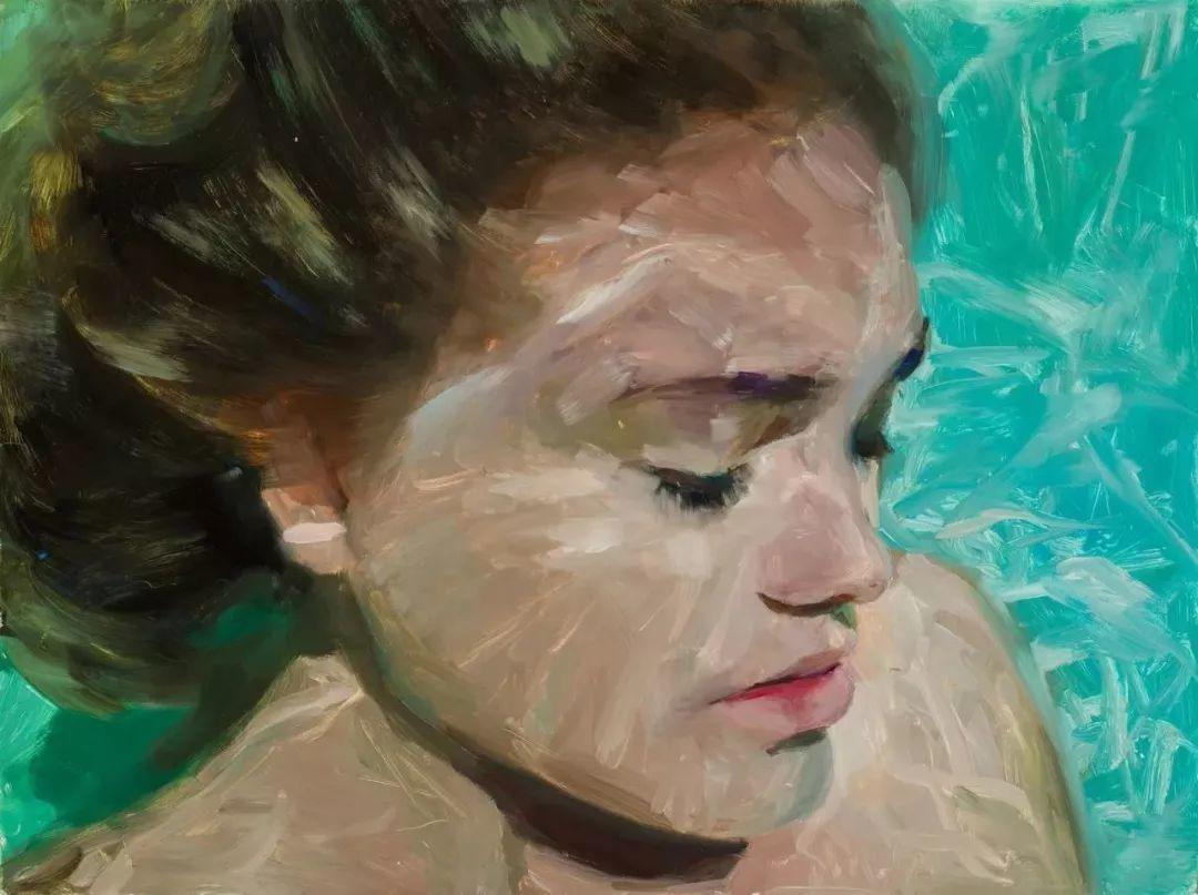 炎炎夏日90后美女画家,不拼颜值拼画功,绘出水下美女淋漓细节插图20