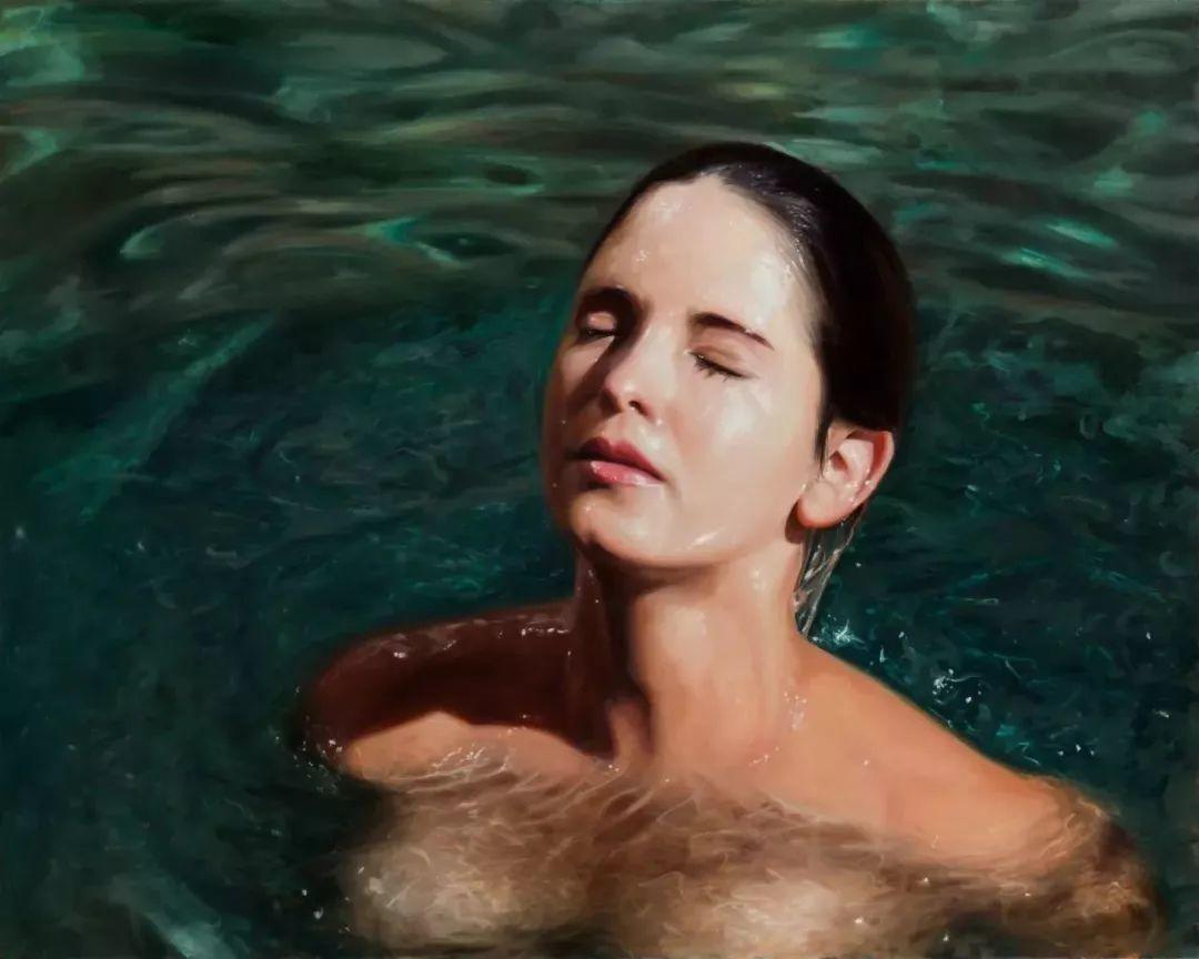 炎炎夏日90后美女画家,不拼颜值拼画功,绘出水下美女淋漓细节插图29