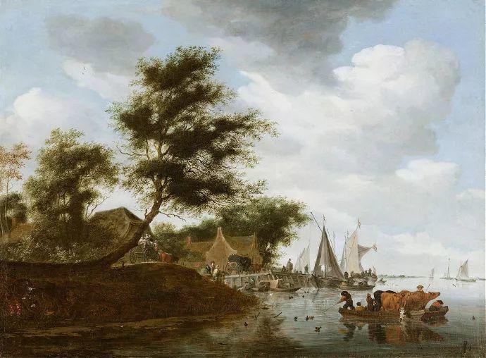 荷兰-所罗门·范·雷斯达尔,哈勒姆新色调风格的倡导者插图8