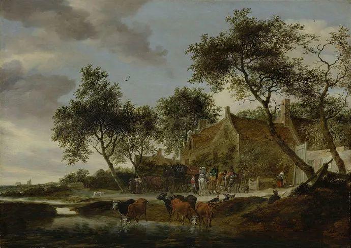 荷兰-所罗门·范·雷斯达尔,哈勒姆新色调风格的倡导者插图23