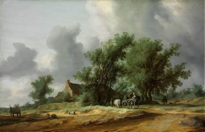 荷兰-所罗门·范·雷斯达尔,哈勒姆新色调风格的倡导者插图27